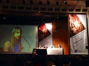 Anjuli Tostes de CGU, expone sobre Usuario Simulado en el V Seminario Internacional de Transparencia